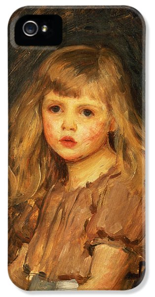 Portrait Of A Girl IPhone 5 Case by John William Waterhouse