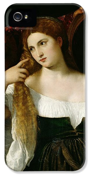Portrait Of A Woman At Her Toilet IPhone 5 Case by Titian