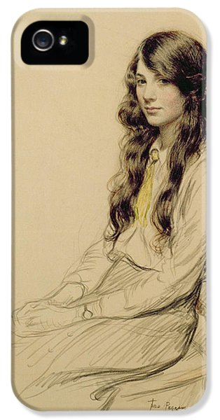 Portrait Of A Young Girl IPhone 5 Case by Frederick Pegram