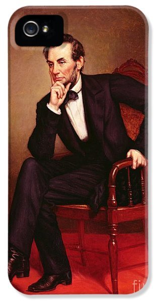 Portrait Of Abraham Lincoln IPhone 5 Case by George Peter Alexander Healy