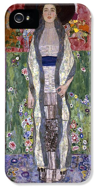 Portrait Of Adele Bloch-bauer II IPhone 5 / 5s Case by Gustav Klimt