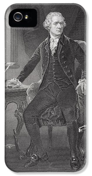 Portrait Of Alexander Hamilton IPhone 5 Case by Alonzo Chappel