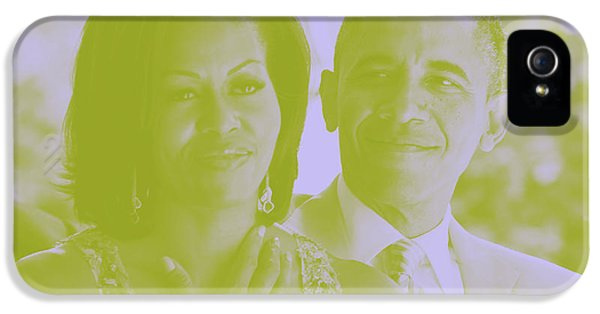 Portrait Of Barack And Michelle Obama IPhone 5 / 5s Case by Asar Studios