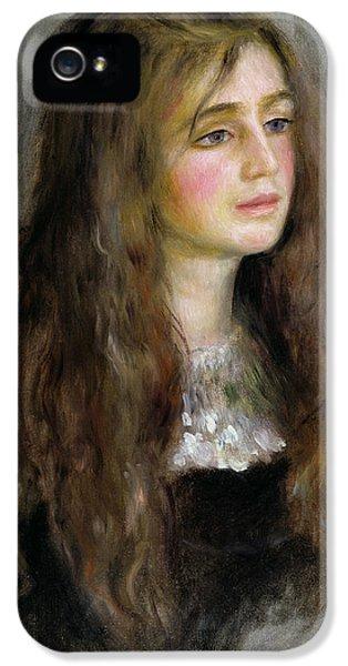 Portrait Of Julie Manet  IPhone 5 Case by Pierre Auguste Renoir