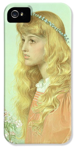 Portrait Of Miss Adele Donaldson, 1897 IPhone 5 / 5s Case by Anthony Frederick Augustus Sandys