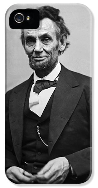Landmarks iPhone 5 Case - Portrait Of President Abraham Lincoln by International  Images