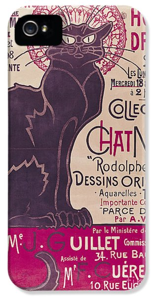 Poster Advertising An Exhibition Of The Collection Du Chat Noir Cabaret IPhone 5 Case
