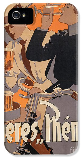 Poster Advertising Phenix Beer IPhone 5 Case by Adolf Hohenstein
