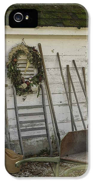 Potting Shed Vignette IPhone 5 Case by Teresa Mucha