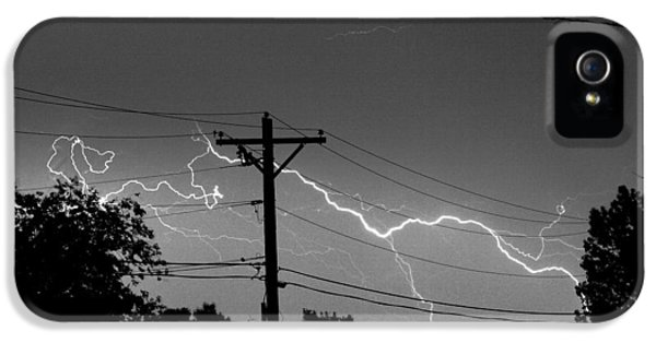 Power Lines Bw Fine Art Photo Print IPhone 5 Case