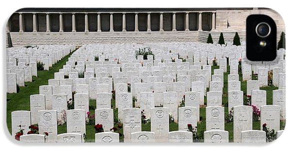 Pozieres British Cemetery IPhone 5 Case by Travel Pics