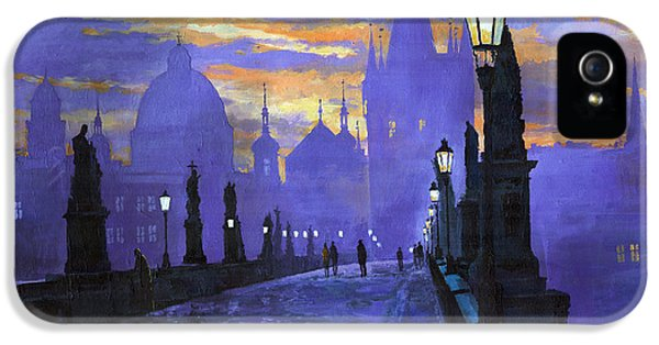 Prague Charles Bridge Sunrise IPhone 5 Case