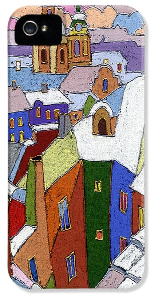 Prague Old Roofs Winter IPhone 5 Case by Yuriy  Shevchuk