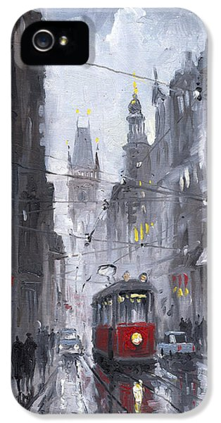 Prague Old Tram 03 IPhone 5 Case by Yuriy  Shevchuk