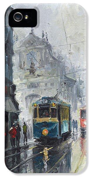 Prague Old Tram 04 IPhone 5 Case by Yuriy  Shevchuk