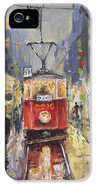 Prague Old Tram 08 IPhone 5 Case by Yuriy  Shevchuk