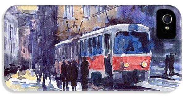 Prague Tram 02 IPhone 5 Case