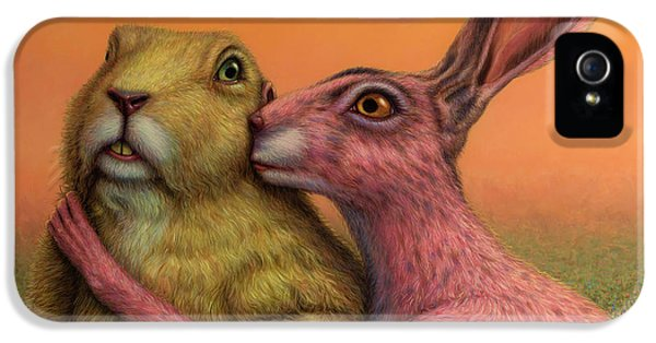 Prairie Dog And Rabbit Couple IPhone 5 Case by James W Johnson
