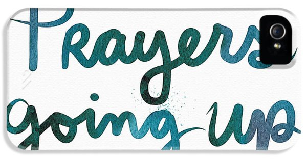 Prayers Going Up- Art By Linda Woods IPhone 5 Case by Linda Woods