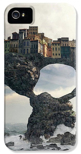 Town iPhone 5 Case - Precarious by Cynthia Decker
