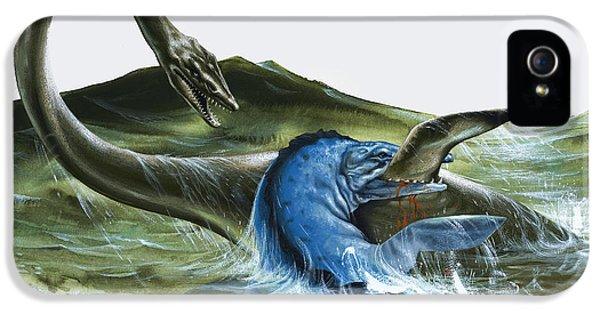 Prehistoric Creatures IPhone 5 Case by David Nockels