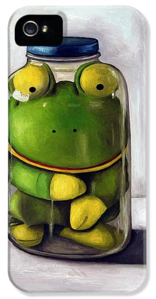 Amphibians iPhone 5 Case - Preserving Childhood by Leah Saulnier The Painting Maniac