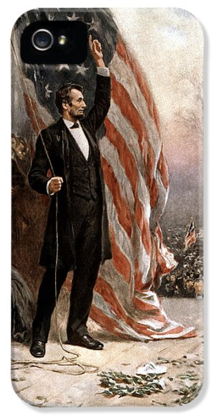 Abraham Lincoln iPhone 5 Cases - President Abraham Lincoln Giving A Speech iPhone 5 Case by War Is Hell Store