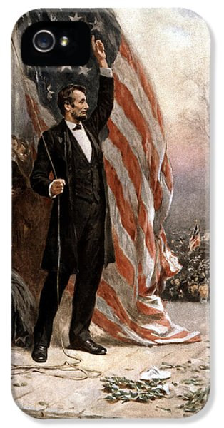 President Abraham Lincoln Giving A Speech IPhone 5 Case by War Is Hell Store