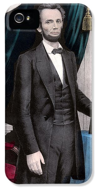 President Abraham Lincoln In Color IPhone 5 Case by War Is Hell Store