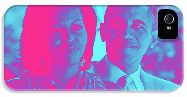 President Barack Obama And The First Lady Michelle Obama IPhone 5 Case by Asar Studios