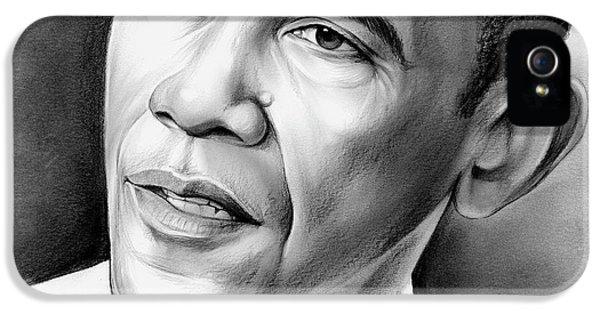 Barack Obama iPhone 5 Case - President Barack Obama by Greg Joens