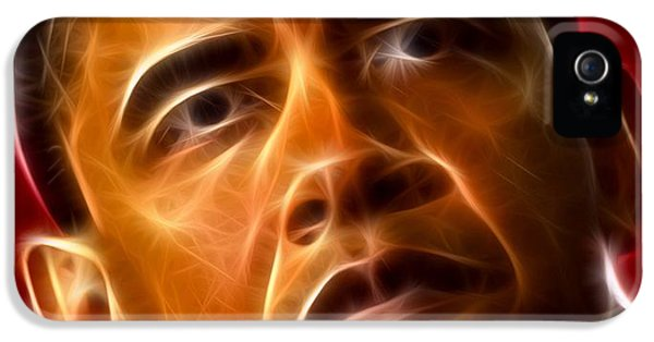 President Barack Obama IPhone 5 Case by Pamela Johnson