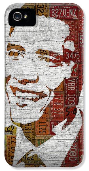 President Barack Obama Portrait United States License Plates IPhone 5 Case by Design Turnpike