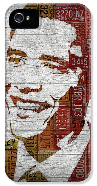 President Barack Obama Portrait United States License Plates IPhone 5 / 5s Case by Design Turnpike