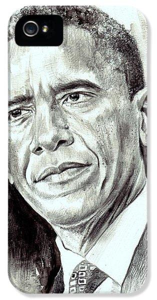 Barack Obama iPhone 5 Case - President Barack Obama by Suzann's Art