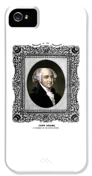Declaration iPhone 5 Cases - President John Adams Portrait  iPhone 5 Case by War Is Hell Store