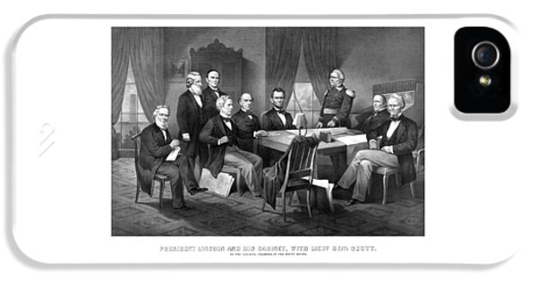President Lincoln His Cabinet And General Scott IPhone 5 Case