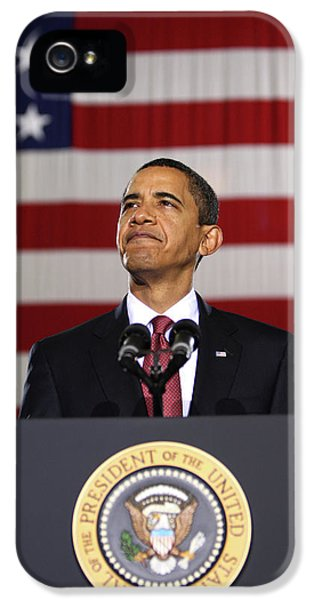 President Obama IPhone 5 Case by War Is Hell Store