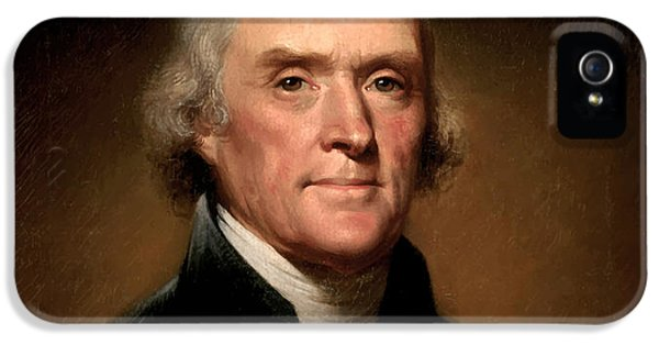 Portraits iPhone 5 Case - President Thomas Jefferson  by War Is Hell Store