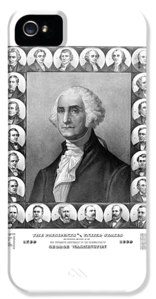Presidents Of The United States 1789-1889 IPhone 5 Case by War Is Hell Store