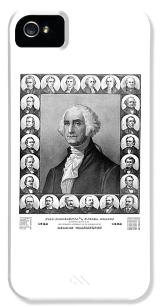 Thomas Jefferson iPhone 5 Case - Presidents Of The United States 1789-1889 by War Is Hell Store