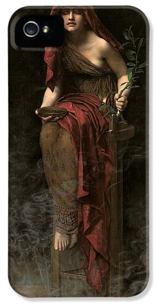 Priestess Of Delphi IPhone 5 Case by John Collier