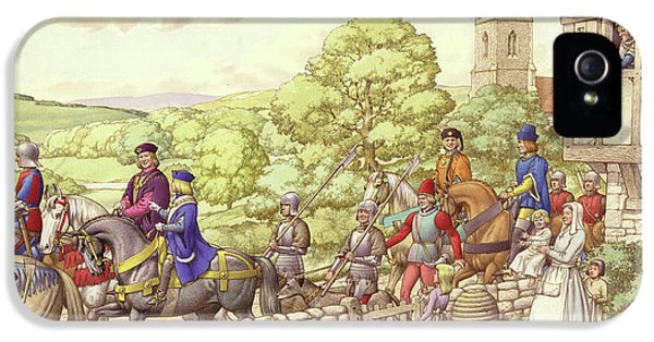 Prince Edward Riding From Ludlow To London IPhone 5 Case by Pat Nicolle