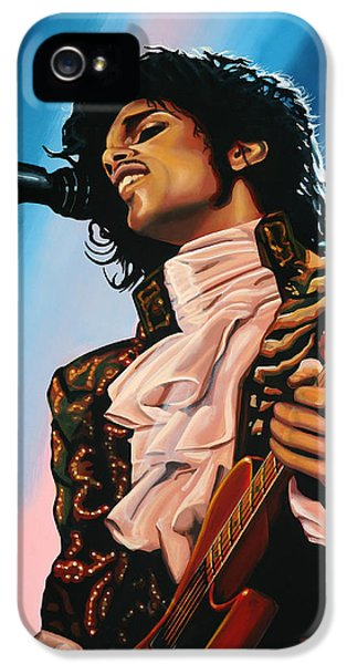 Rhythm And Blues iPhone 5 Case - Prince Painting by Paul Meijering