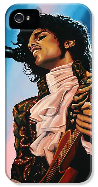 Prince Painting IPhone 5 Case by Paul Meijering