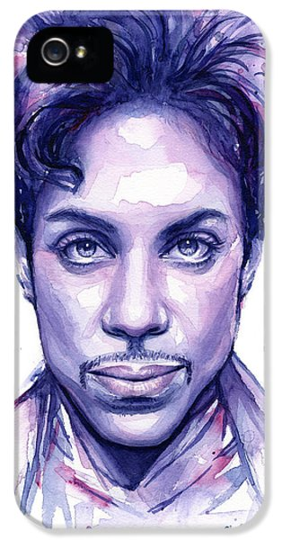 Prince Purple Watercolor IPhone 5 Case by Olga Shvartsur