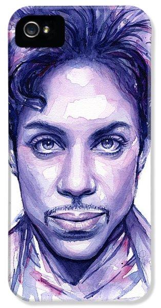 Prince Purple Watercolor IPhone 5 Case by Olga Shvartsur