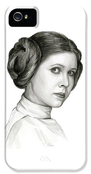 Princess Leia Watercolor Portrait IPhone 5 Case