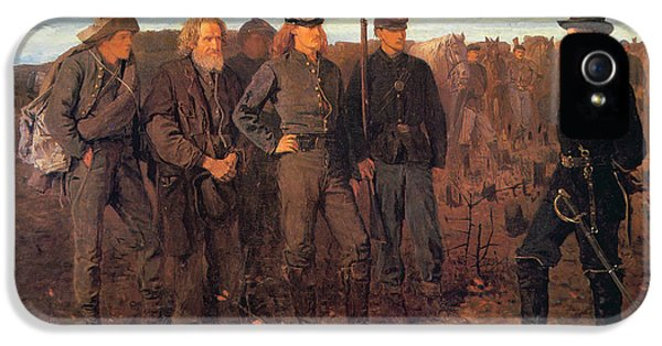 Prisoners From The Front IPhone 5 Case by Winslow Homer