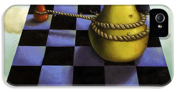 Checker Board iPhone 5 Cases - Protecting Baby 7 The Safety Rope iPhone 5 Case by Leah Saulnier The Painting Maniac